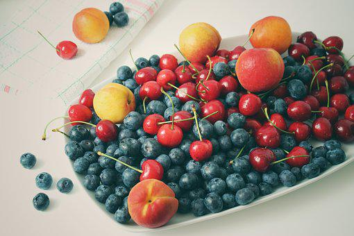 Fruit, Blueberries, Vitamins, Apricots, Cherries