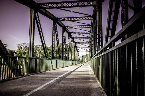 Bridge, Iron Construction, Way, Cycle Path, Opole