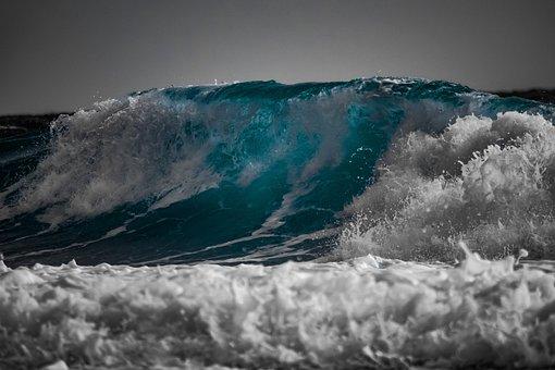 Wave, Water, Surf, Ocean, Sea, Spray, Wind, Motion
