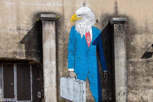 Factory, Lisbon, Mural, Art, Eagle, Portugal, Wall