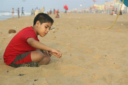 Sand, Play, Beach, Fun, Summer, Happy, Kid, Sea