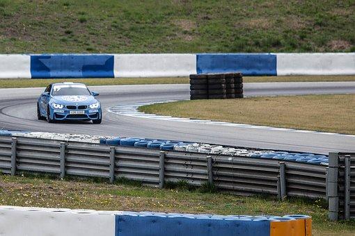 Bmw M4, Speedway, Car, Stadium, Racing