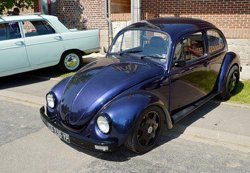 Volkswagen Beetle, Volkswagen, Retro, Car