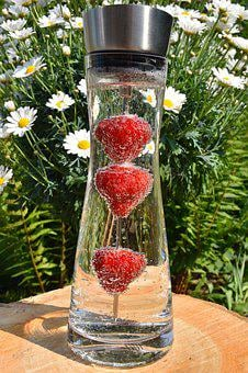 Glass Carafe, Carafe, Water, Mineral Water, Drink