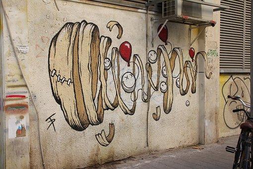 Street Art, Graffitti, Facade, Potato, Spray, Urban Art