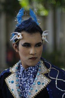 Face, Carnival, Java, People, Costume, Fun, Festival