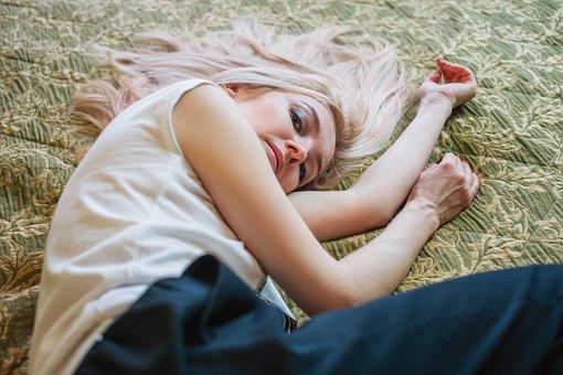 Girl, Blonde, Portrait, Model, Lips, Eyes, Person