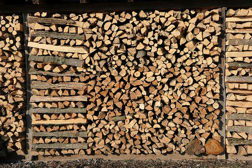 Growing Stock, Firewood, Holzstapel, Background