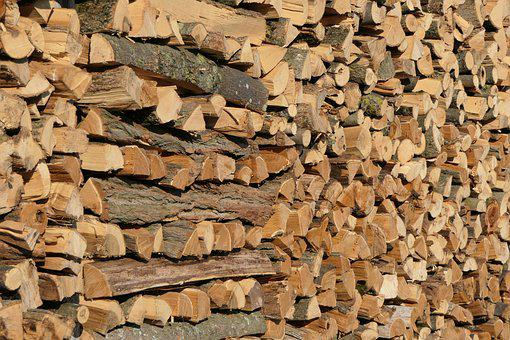 Holzstapel, Wood, Firewood, Growing Stock, Stacked Up