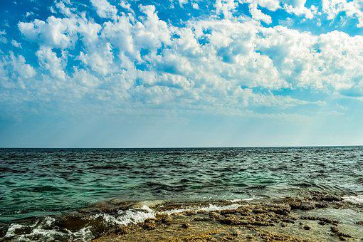 Sea, Clouds, Sky, Nature, Beach, Seascape, Horizon