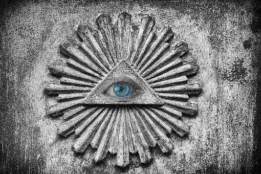 Eye, Illuminati, Iris, Conspiracy, Symbol, Weird