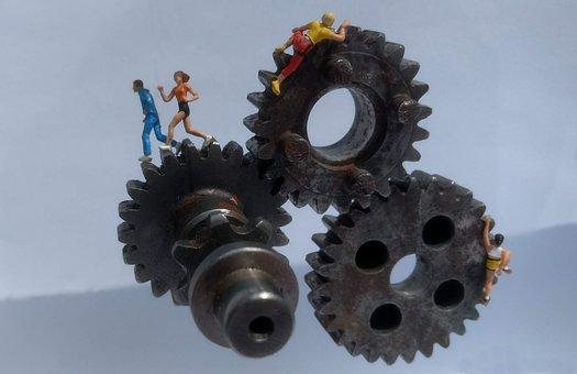 Gear, Athletes, Miniature Figures, Industry, Mechanics