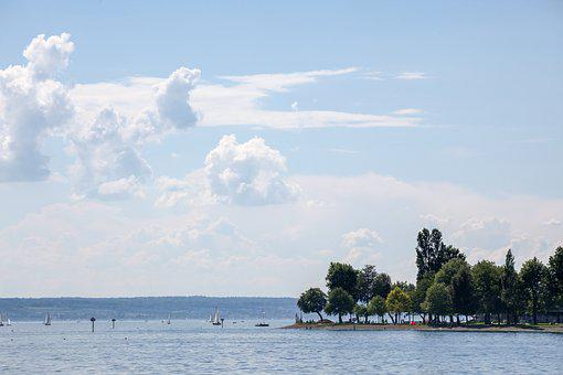 Island, Peninsula, Lake Constance, Lake, Leisure, Beach