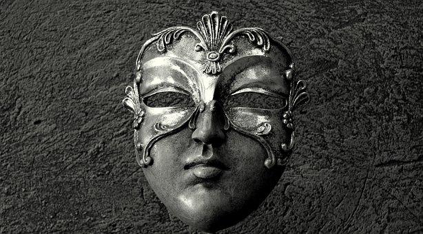 Mask, Black And White, Mask Venetian, Mystery