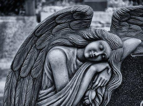 Angel, Cemetery, Sculpture, Tomb Figure, Art, Mourning
