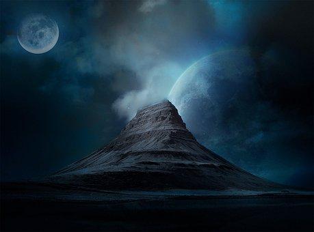 Outer Space, Landscape, Iceland, Universe, Fiction