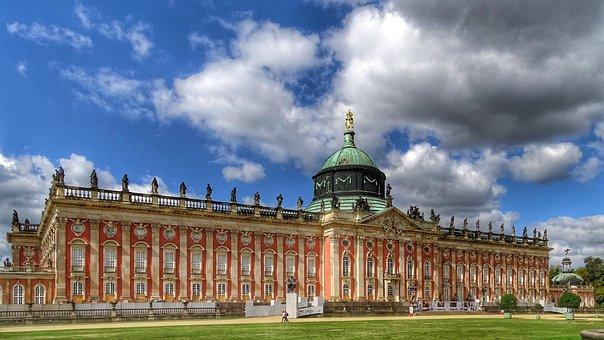 Germany, Potsdam, Park, Sanssouci, New Palais