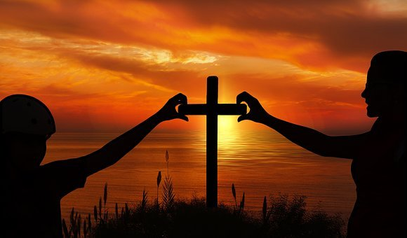 Religion, Faith, Cross, Church, Mother, Daughter