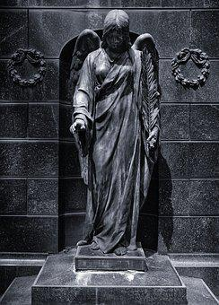 Angel, Cemetery, Sculpture, Mourning, Religion