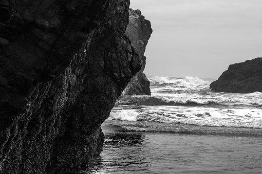 Pacific Ocean, Beach, Rocks, Nature, Water, Sea, Ocean