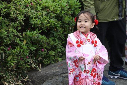 Japan, Shinto, Kimono, Kid, Temple, Shrine