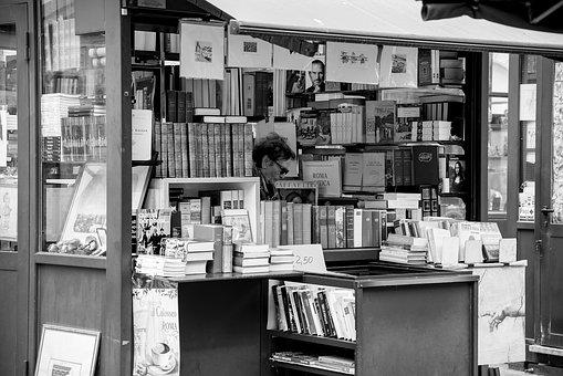 Book, Kiosk, Store, Shop, Bookstore Owner, Bookshop
