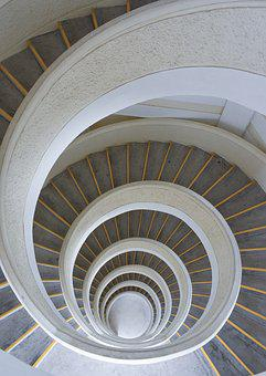 Spiral, Stairs, Spiral Stairs, Staircase, Design