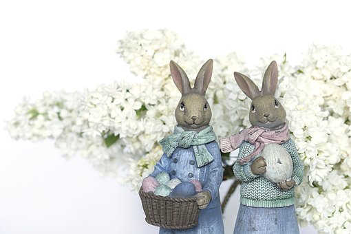 Easter, Rabbit, Lilac, Spring, Decorative, Eggs