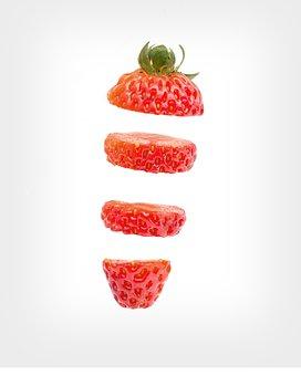Sliced Strawberries, Strawberries-rich, Strawberries