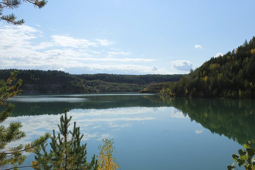 Quarry, Lake, The Nature Of The Urals, Forest, Russia