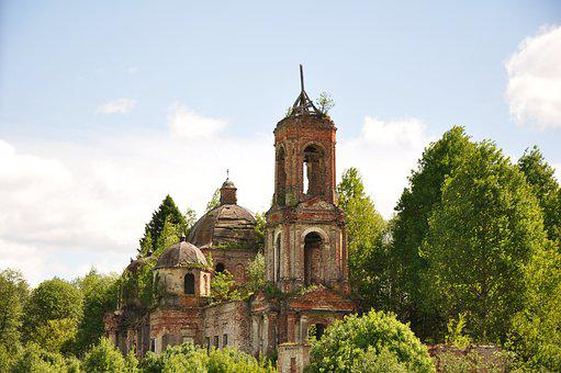 Old, Destroyed, Temple, Church, The Ruins Of The