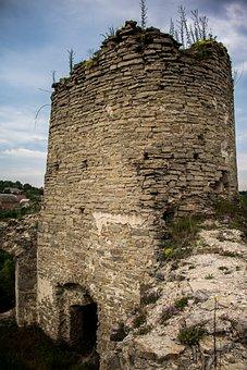 Sydoriv, Ukraine, Castle, Old, Ancient, Fortification