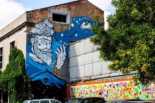 Factory, Lisbon, Mural, Art, Portugal, Wall, Street