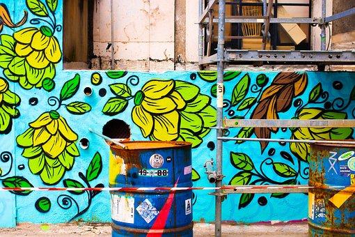 Factory, Lisbon, Mural, Art, Beer, Portugal, Wall