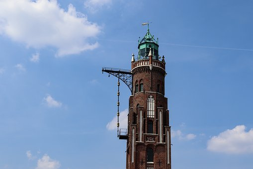 Lighthouse, Bremerhaven, Weser, Tourism, Ships, Water