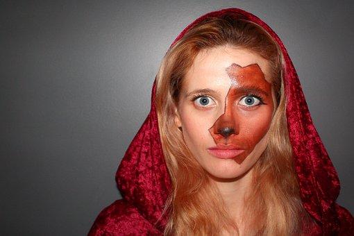 Woman, Mask, Face, Girl, Halloween, Young, Fun, Dark