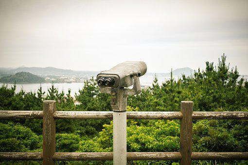 Telescope, Halla, Jeju Island, Wood, Scenery, Fence