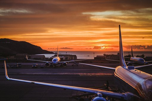 Airport, Travel, Plane, Sky, Fly, Transport, Aircraft