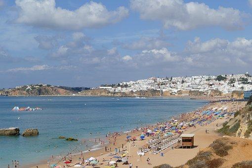 Portugal, Albufeira, Beach, Sea, Beautiful Beaches