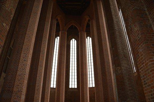 Architecture, Church, Gothic, Bricks, Beeskow