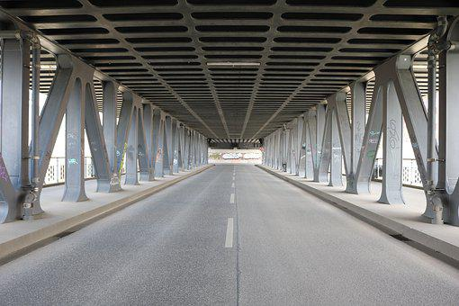 Bridge, Underpass, Hamburg, Road, Architecture, Metal