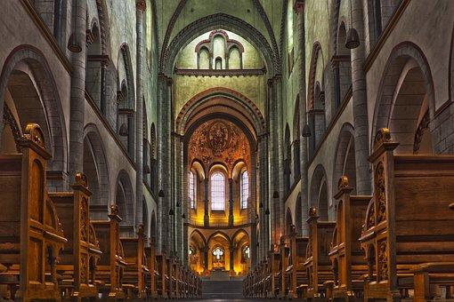 Church, Architecture, Building, Altar, Vault, Interior