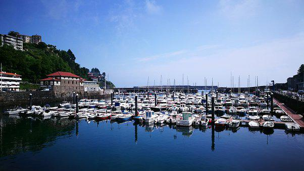Fishing Port, Sky, Blue, Tourism, Motrico