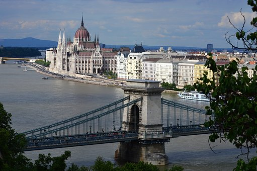 Hungary, Budapest, Country House, Parliament, Bridge