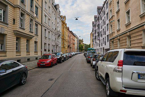 City, Munich, Road, Architecture, Building, Germany