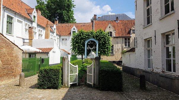 Begijnhof, Lier, Belgium, Old, Catholic, Historical