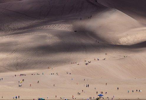 Dune, People, Landscape, Desert