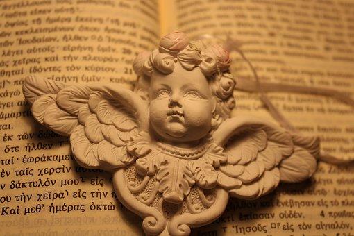 Angel, Book, Holy Bible, Vintage, Greek, Figure