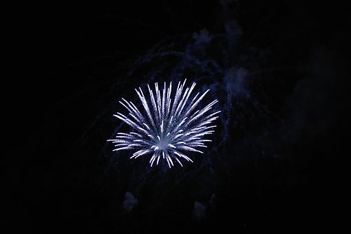 Fireworks, Firework, Blue, Sky, Night, Nightsky