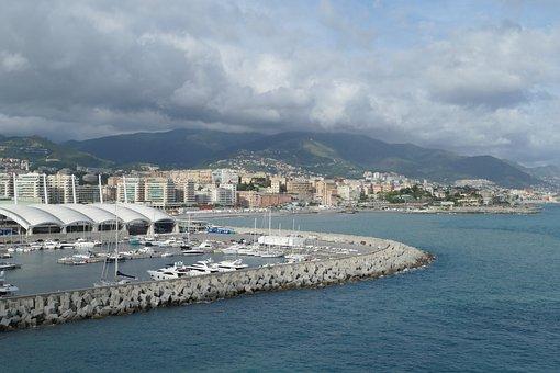 Genoa, Italy, Port, Sea